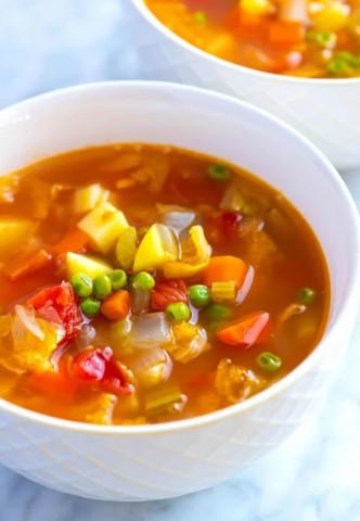 Легкий вегетарианский суп