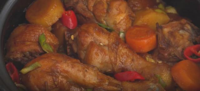 Тушеная курица с овощами по-корейски