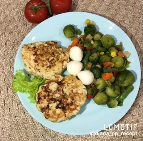 Котлетки из кабачка и куриного филе с сыром 🤤🤤🤤