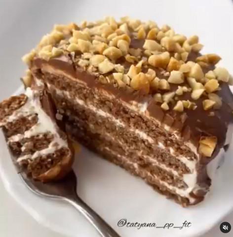 Мини-тортик на сковороде