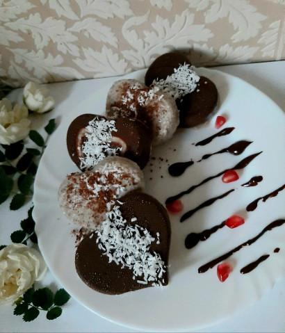 Веганские бананово-кокосовые конфеты в шоколаде