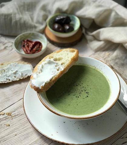 Суп-пюре из шпината 🌱