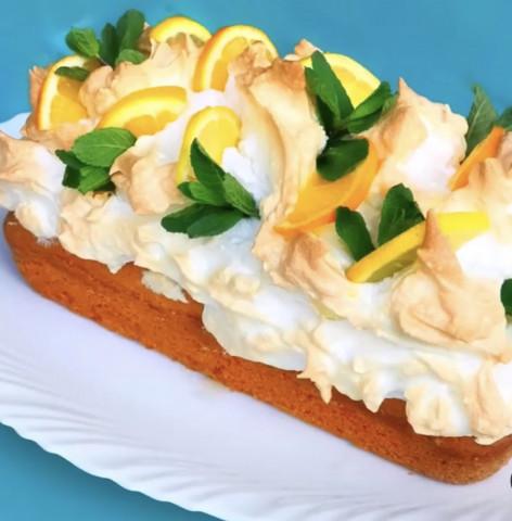 """Нежнейшее """"облачко"""" безе ☁️ и ароматный лимонный кекс 🍋"""