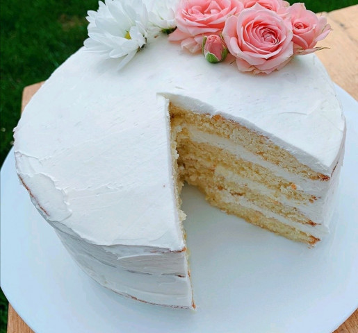 Торт с лимонным бисквит ом и невероятно вкусным кремом