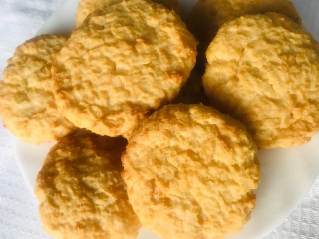 Творожное кокосовое печенье