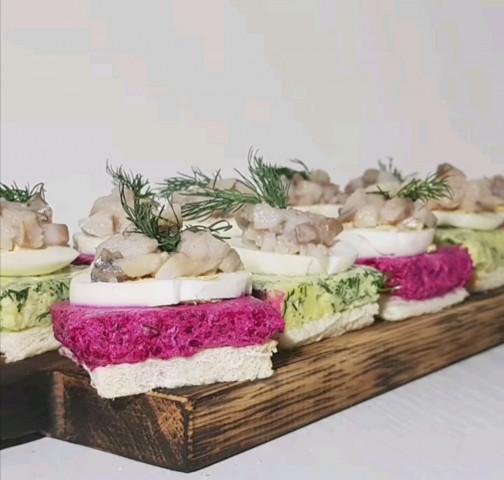 Бутербродики а-ля селедка под шубой