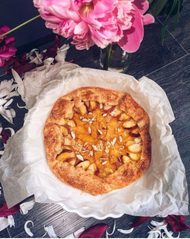 Творожная галета с абрикосами и нектаринами 🍑