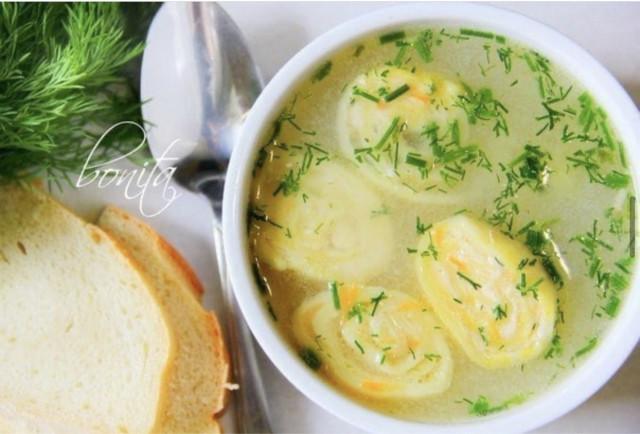 💯Вкусный куриный суп с сырными рулетиками