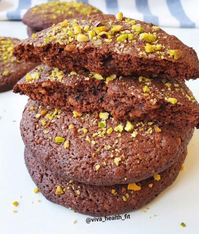 Шоколадно-ореховое печенье-брауни
