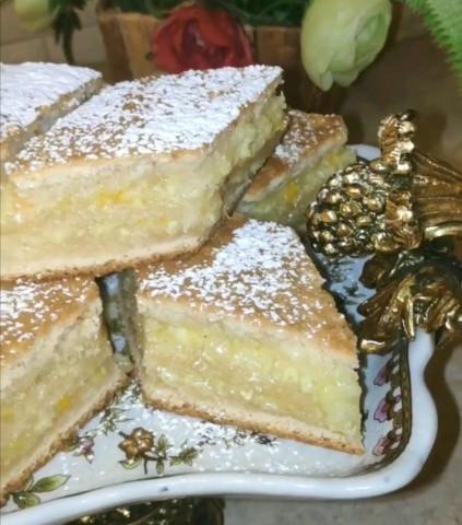 Пирог с лимонно-апельсиновой начинкой