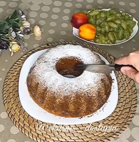 Творожно-кокосовый кекс