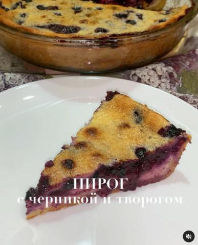 🔥Песочный пирог с черникой и творогом🔥 ⠀