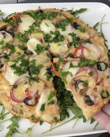 Белковая пицца