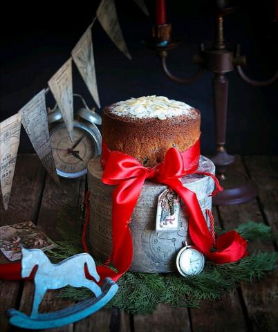 Английский рождественский кекс с чаем Earl Grey