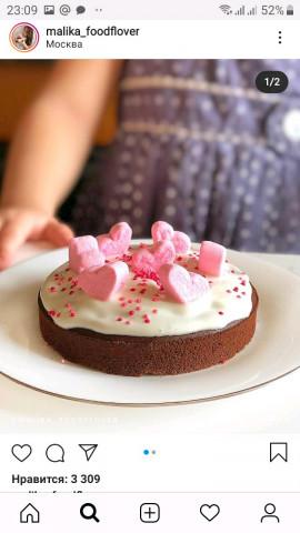 ⠀🍫 «Шоколадный торт с творожным кремом!🍫