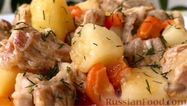 Жаркое с картофелем, по-домашнему