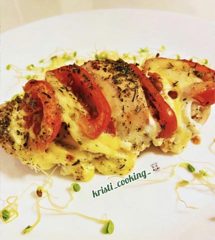 🍗 Куриная грудка с помидорами и сыром