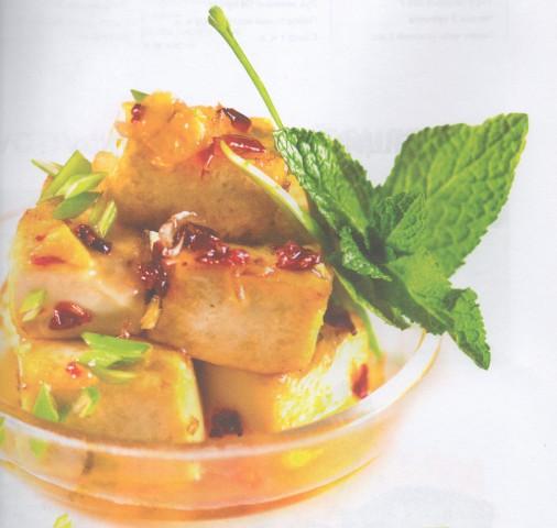 Тофу в сладком соусе чили