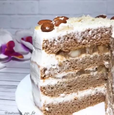 Торт с грушей и рикоттой