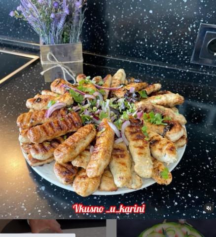 Колбаски из филе индейки