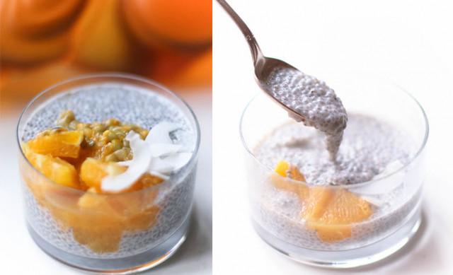 Медово-ванильный пудинг из семян чиа
