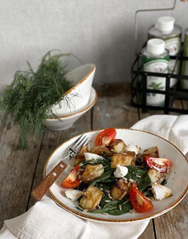 Салат с хрустящими баклажанами 💣