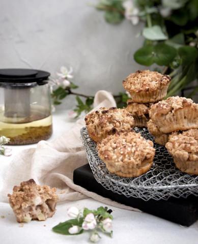 Кексы с яблочным штрейзелем
