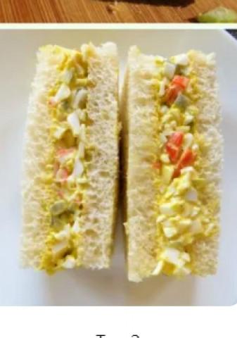 Бутерброд с яйцом и крабовыми палочками