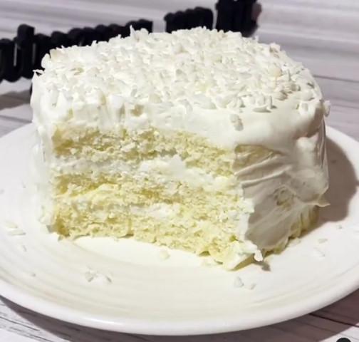 Мини кокосовый тортик