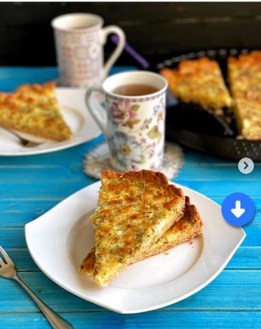 Творожный пирог с сыром и зеленью🥮