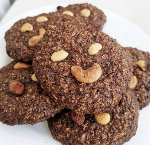 Шоколадные овсяные печеньки