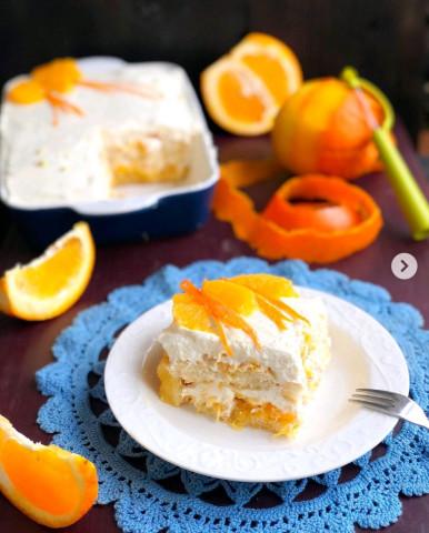 Тосканский творожный десерт с апельсинами🍰