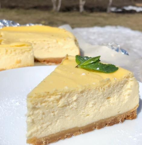 Чизкейк с рикоттой и творожным сыром