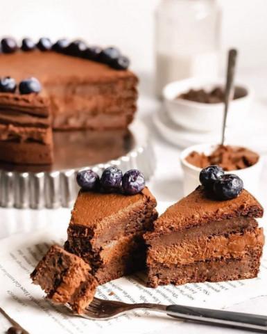 Шоколадный торт - брауни, без глютена и рафинированного сахара