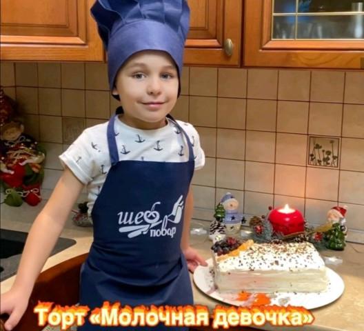 """Торт """"Молочная девочка"""""""