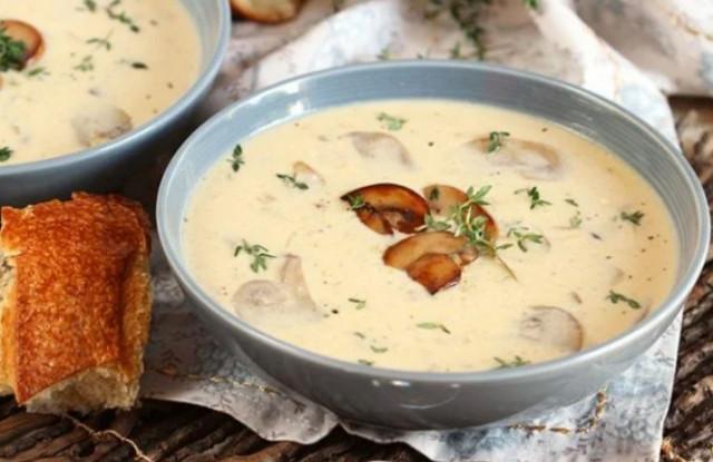 Домашний грибной крем-суп