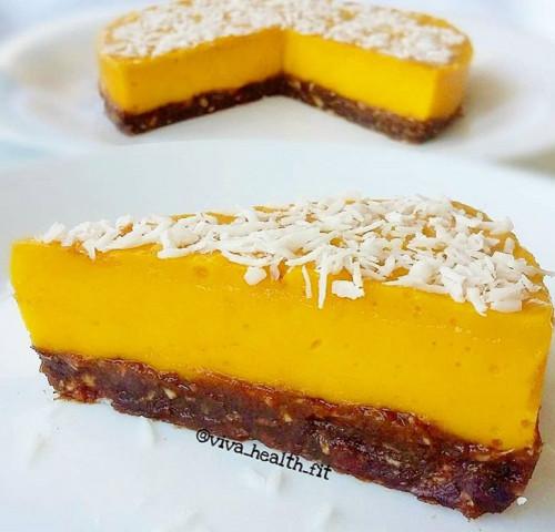 ПП - мангово-творожный десерт