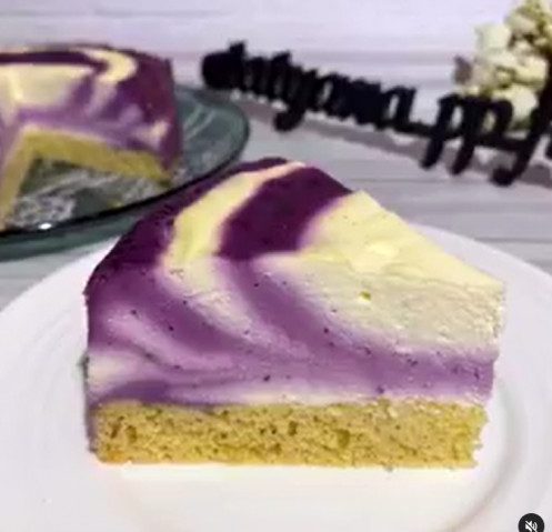 Чернично-ванильный чизкейк