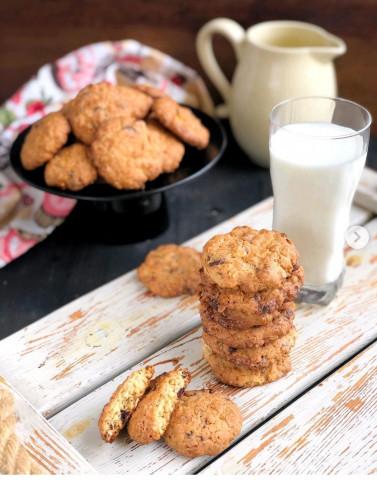 Американское овсяное печенье с орехами и шоколадом🍪