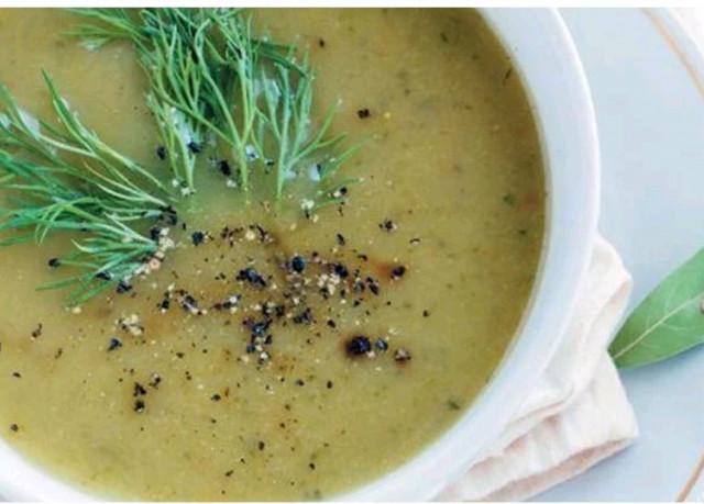 Суп-пюре из зеленой гречки с картофелем и морковью