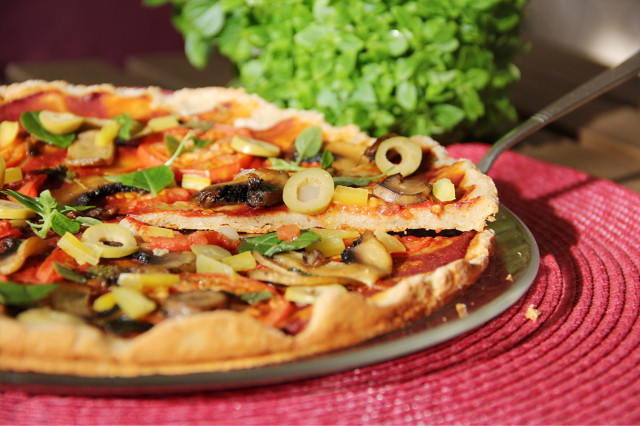 Пицца с амарантовой мукой