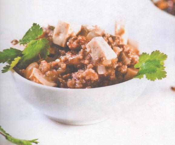 Жареная свинина с тофу