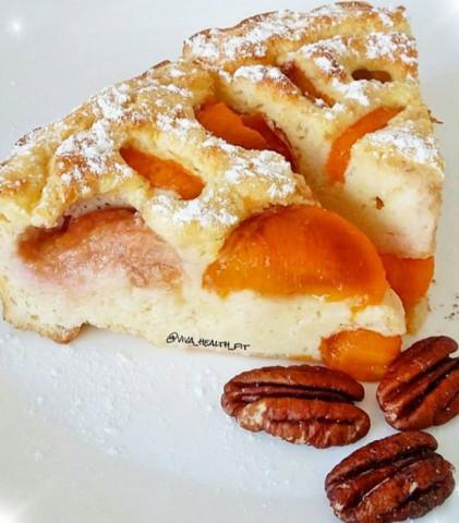 ПП-творожно-абрикосово-сливовый пирог...👌