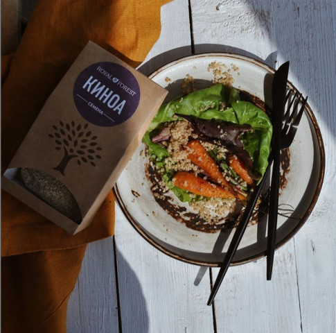 🍲Рецепт салата с жареной морковью и базиликом ⠀