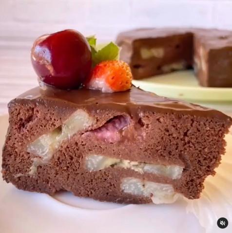 Быстрый шоколадный пирог