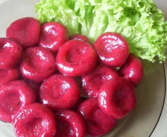 Свекольно-картофельные клецки