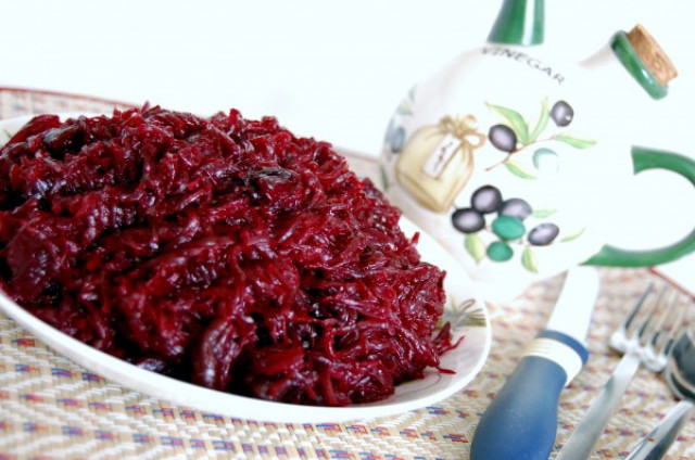 Салат из свеклы с растительным маслом