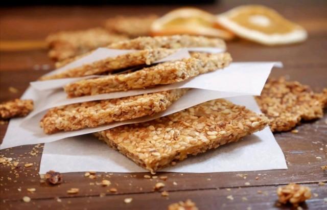 Кунжутное печенье с цитрусовой ноткой