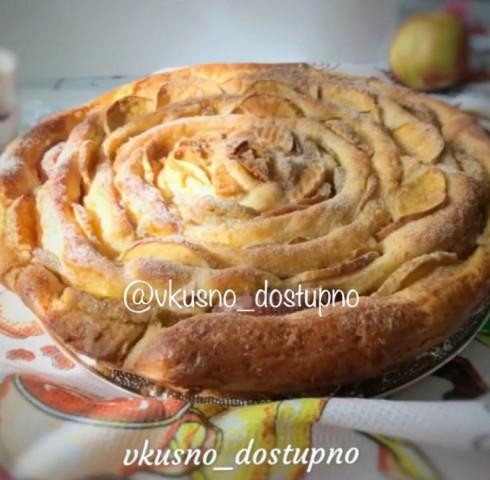 Пирог «Чайная роза»