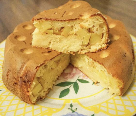 Картофельный пирог с плавленным сыром🥧🥔🧀